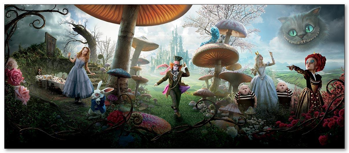 Магнитная картина Alice in Wonderland / Алиса в Стране чудес
